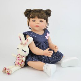 Niños recién nacidos online-57 cm Cuerpo de Silicona Completo Vinilo Reborn Chica Realista Muñeca Recién Nacida Princesa Toddler Toy Bonecas Regalo de Cumpleaños Impermeable