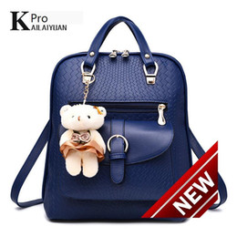 time motorcycle Canada - Both Shoulders Bag 2018 Tide Woman Backpack bags Spring Xia Xinkuan Student Fashion Leisure Time Little Bear Woman Package A Piece Of