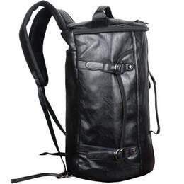 PU Leather Outdoor Sports Gym Bag For Men with Shoes Pocket Training  Backpack Fitness Shoulder Bag Waterproof Travel Handbag. Supplier  raisins 854ef03262