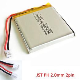 EHAO 504050 3.7 V 1500 mAh bateria LiPo Recarregável JST PH 2.0mm 2pin conector Para DVD PAD telefone móvel bluetooth câmera tablet pc cheap battery rechargeable tablet de Fornecedores de tablet recarregável de bateria
