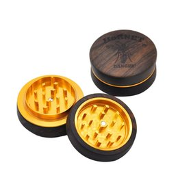 Mini rose silikon online-Mini Style Rose Holz Rauchen Schleifmaschinen 2 Stück Mit CNC Aluminium Zähne Handgefertigte Metall Tabak Holz Schleifer Anzug Silikon Rauch Rohre