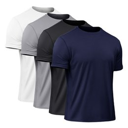 black compression t shirts wholesale Promo Codes - Men's Quick Dry Compression Short Sleeve T-Shirts Running Shirt Fitness Tight Tennis Soccer Gym High-elastic Tight-fitting Tops