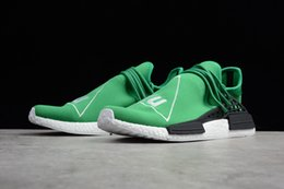 Wholesale Pw Blue - 2018 NMD HUMAN RACE Pharrell Williams X Running Shoes PW human pace Sneakers Retro Sports Shoes Professional boost Outdoor Runner size 5-13
