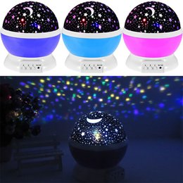 Wholesale baby projector lamps - Rotating Night Light Projector Spin Starry Sky Star Master Children Kids Baby Sleep Romantic Led USB Lamp Projection