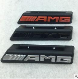 Wholesale bonnet badge - Mercedes benz AMG A45 c63 Gla glc Gle MlL A B C E class Front Hood grill grills bonnet amg logo badge emblem.