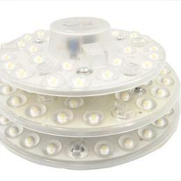 Panel circular led 12w online-12 W 18 W 24 W AC 220 V blanco LED lente redonda del techo redondo llevó el anillo del círculo del círculo luces módulo de sensor de movimiento lámpara Junta Circular