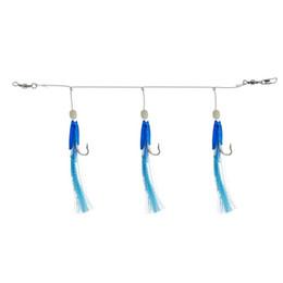 Вес рыболовных приманков онлайн-3 светящихся сабаки с головой рыбы с 2 # крючками для рыболовных приманок