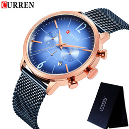 curren chronograph Rabatt CURREN Herrenuhren wasserdicht Top-Marke Luxus Chronograph Mode männliche Uhr Edelstahl Sport Armbanduhr 8313