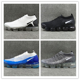 Wholesale woman shoes size 12 - 2018 High quality Vapormaxes 2.0 Men Women Running Shoes Cushion Surface Breathable Fly line Sports shoes Sneakers size us 5.5-12