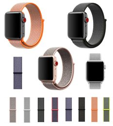 Wholesale Loop Bracelets - For Iwatch series 3 2 1 Woven Nylon Casual Watch Band sport loop for Apple Watch Iwatch Strap Wrist Bracelet Connector Mounted for 38 42mm