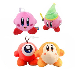 Wholesale anime dolls for sale - Hot Sale 4 Style 13-20cm Cartoon Kirby Plush Toys Stuffed Dolls With Sucker Gift For Children