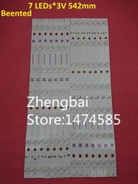 Freeshipping 100% Novo 16 PCS * 7 LEDs CONDUZIU barra de tira de fundo para tx-55dx600e TB5509M M30900 16V0 E74739 EX-55S0VE04-2Z543-0-I-631-0489-1 de