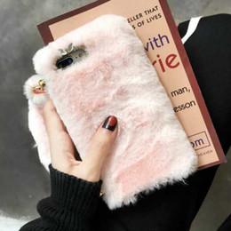 2019 caso de inverno para iphone Luxo strass pele quente case para iphone x xr xs max iphone 7 8 6 6 s plus case de pelúcia veludo inverno tpu capa shell pele cinta gsz481 desconto caso de inverno para iphone