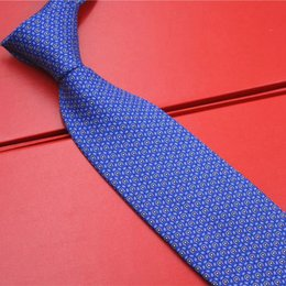 Wholesale 9 Estilos Multicolor Rojo Negro Amarillo Azul Para Hombre Corbatas Corbata Seda Impresión Hecho a mano Nuevo F80