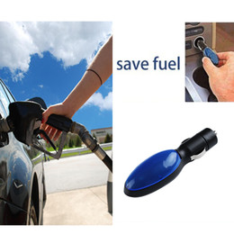 Wholesale Fuel Vehicles - 1Pc Portable Car Fuel Saver for Car Vehicles Compact Save Gas Features Fuel Shark Save On Gas Economizer Black+Blue DropShipping