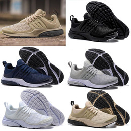 Wholesale Woven Casual Shoes - 2018 New Presto Ultra SE Woven Sand All Black Midnight Navy Wolf Grey Running Shoes Outdoor Casual Walking Sneakers Size 36-45