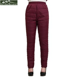 Wholesale Down Proof - 2017 Winter Women Duck Down Pants Trousers High Waist Outer Wear Female Casual Straight Warm Thick Pants Cold-proof Trousers