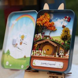 2019 große plastikpuppen Traum Beginnen 3D Holz DIY Handgefertigte Geheimnis Box Theater Puppenhaus Miniatur Zimmer Box Nette Mini Puppenhaus Montieren Kits Geschenk Spielzeug
