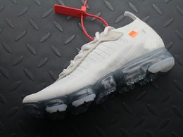 Wholesale new style flat shoes - 2018 New Off Vapormax Running Shoes for Mens White Black 2 colors style one sale Breather Sneaker Size 7-12 With Box