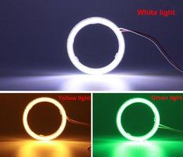 2019 luzes da cidade de honda 70 MM Carro LEVOU Anel de Luz Com Cobertura de Som modificado Anjo Olho Círculo Demônio Olho luz de Nevoeiro Cob Light Anel Com Abajur