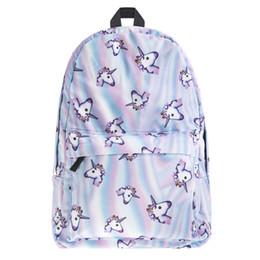 Wholesale Back Bags For Girls - Fashion Designer Backpack Smiley Emoji Face Unicorn Printing School Bag For Teenagers Girls Shoulder Bag Back Pack