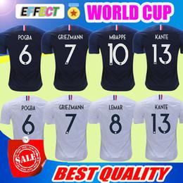 Wholesale Soccer Jersey France - Top Quality France 2018 World Cup Soccer Jerseys Men Maillot de foot GRIEZMANN #7 POGBA #6 MBAPPE MATUIDI football Shirts Kit Best Quality