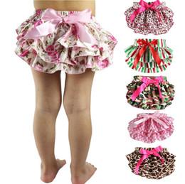 Wholesale Toddlers Panties - baby girls nice stain floral PP pants toddler ruffle panties briefs diaper cover children panties flowers panties brief