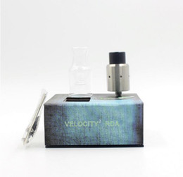 Wholesale Post Fittings - Velocity 2 RDA Atomizer Clone With Extra Replacement Glass Dual Post PEEK Insulators Two post design fit 510 Mod