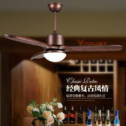Wholesale Simple Ceiling For Bedroom - Nordic Wood Ceiling Fan Light Simple Village Ceiling Fan with LED Light and Remote Control for Dining Room Bedroom