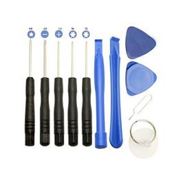 Винты для мобильного телефона онлайн-11 в 1 отвертка наборы инструментов для ремонта сотовых телефонов для iPhone Samsung HTC Sony Motorola LG бесплатно DHL