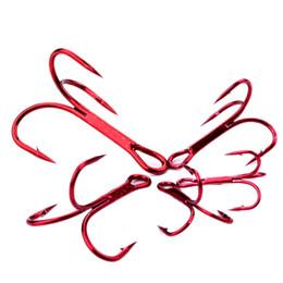 Красный карп онлайн-10#-2# Красный никель тройной якорь крюк высокоуглеродистой стали колючие крючки рыболовные крючки рыболовные крючки Pesca Карп рыболовные снасти аксессуары