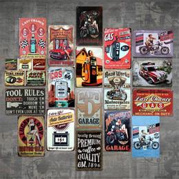 2019 stagno stampato all'ingrosso Lucky Lady MOTOR OIL Vintage Targa in metallo Bar pub casa Decorazioni in metallo Poster in metallo