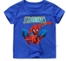 Blousons enfants spiderman en Ligne-Veste bébé, col rond, garçon, t-shirt à manches courtes, vêtements pour enfants veste 2018 Spiderman neuve, enfant d'été, homme compatissant