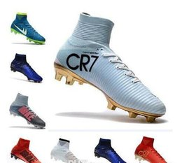 Wholesale Womens Black Boot Socks - Newairl kids soccer shoes for boys mercurial superfly fg cr7 sock boots football womens mens high tops ronaldo ankle indoor soccer cleats