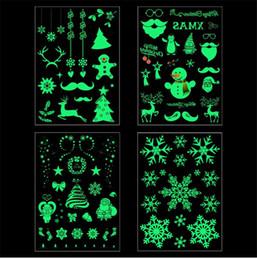 disegni di arte 3d Sconti Natale luminoso autoadesivo del tatuaggio temporaneo Xmas Decor Buon Natale Ornamento Decorazioni di Natale per la casa nuovo anno