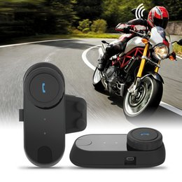 Wholesale Helmet Motorcycle Intercom - 1pcs TCOM Motorcycle Communication Kit Helmet Bluetooth Headset for Motorbike Skiing Intercom Wireless BT Interphone