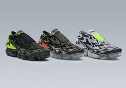 Wholesale Mens Prints - 2018 New ACRONYM x VAPORMAX MOC 2 Black AQ0996-001 Green AQ0996-007 Pink AG0996-102 Mens Running Shoes For Sale Athletic Sneakers