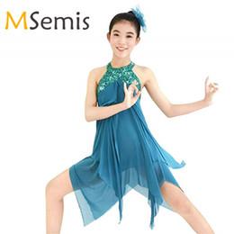 3fa6ee24c6 Kids Girls Ballroom Dress Halter Sequins Criss cross Gymnastics Leotard for  Girls Dress for Lyrical Modern Contemporary Ballroom