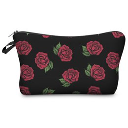 cd367fa7ebb4 3D Printed rose Cosmetic Bags for Travelling Storage Women s Travel Storage  Fashion Cute for gift Christmas