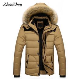 Männer Parkas Mit Kapuze Baumwolle Dicke Warme Winterjacke Männer Plus  Größe M-5XL 2017 Marke Kleidung Mann Mantel Pelzkragen Mäntel mantel pelz  kapuze ... 5c35392243