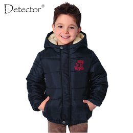 white waterproof clothing Promo Codes - Detector Boys Sports Coat Kid's Outdoor Jacket Children's Windproof Warm Winter Clothes