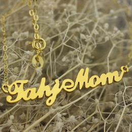 porcellana di gioielli in oro 18k Sconti Collana personalizzata con nome fai da te 2018, collana personalizzata in acciaio inossidabile