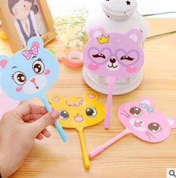 Wholesale Fans Notes - 2018 ballpoint pen lovely cat fan cartoon plastic signature blue ink pens stationery wholesale school office supplies promotion gift