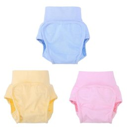 Calças de treino de fraldas de pano on-line-1 Pcs Fraldas Do Bebê Bonito Reutilizáveis Fraldas De Pano Fraldas Laváveis Crianças Calças De Treinamento De Algodão Do Bebê Calcinhas Fralda