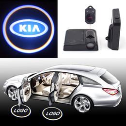 KIA Logo Lámpara de Proyector 3D LED Puerta de Coche Luces de Bienvenida Auto Advertencia Bombilla Decoración Iluminación para KIA Marca Instalación Fácil Alimentado por Batería desde fabricantes