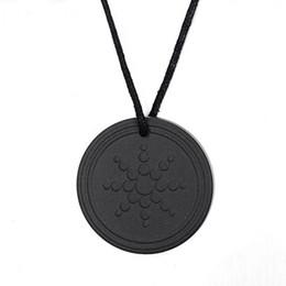 Wholesale Pendant Quantum - Fashion Males Accessories Black Quantum Scalar Energy Pendant ions Energy Power Trendy Men Necklace Jewelry As Gift
