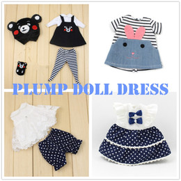 Wholesale Ladies Dress Suits Wholesale - Free shipping only for blyth plump lady dress clothes fat doll 30cm kumamon