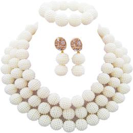 Canada Nigérian Style Opaque Blanc Fiançailles ou Mariage Femmes Ensembles De Bijoux 3C-ZZ-17 Offre