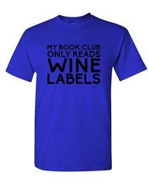 Wholesale books label - Comical Shirt Men'S MY BOOK CLUB READS WINE LABELS - alcohol - Mens Cotton T-Shirt