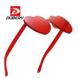 40c8af5c7ea822 lunettes lolita Promotion Amour Coeur lunettes de soleil Femmes Rouge Rose  Sans Monture Lolita Coeurs Lunettes